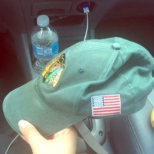 Vintage green Blackhawks hat